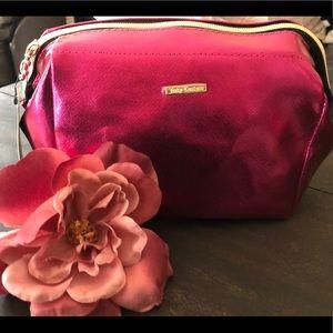 Juicy Couture Hot Pink Metallic makeup bag